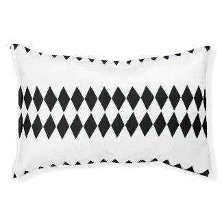 Black White Harlequin Pattern Pet Bed