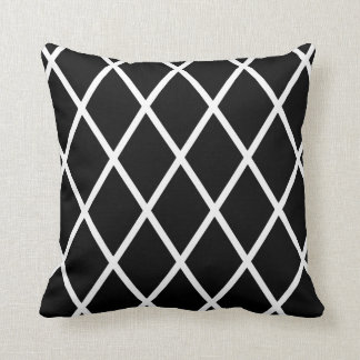 Black & White Harlequin Pattern Throw Cushion