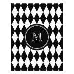 Black White Harlequin Pattern, Your Initial Full Colour Flyer