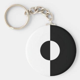 Black & White Harmony Key Ring