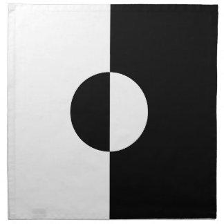 Black & White Harmony Napkin
