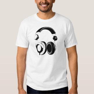 Black & White Headphone Artwork Shirt