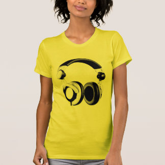 Black & White Headphone Artwork T Shirts