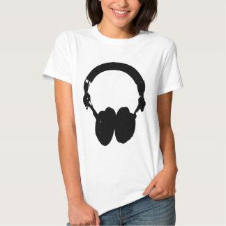 Black & White Headphone Silhouette T Shirt