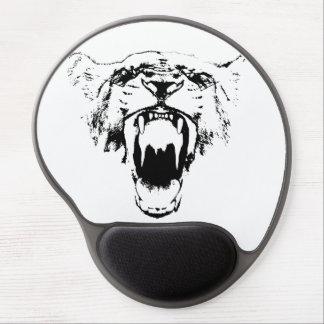 Black & White Hear My Roar! - Gel Mousepad