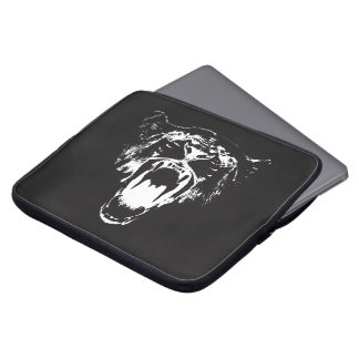 Black & White Hear My Roar! - Laptop Sleeve