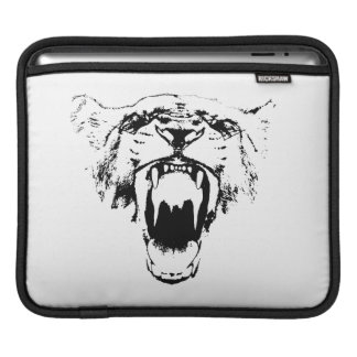 Black & White Hear My Roar! - Tablet Sleeve