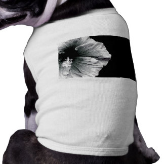 Black & White Hibiscus Flower Photography Shirt