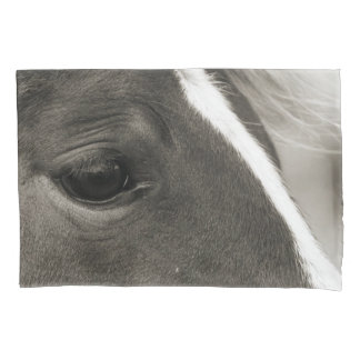 Black & White Horse Eye pillow case