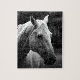 Black White Horse Jigsaw Puzzle