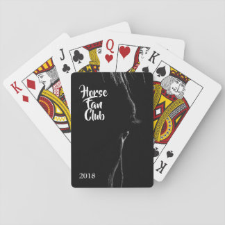 Black & White Horse Silhouette Playing Cards