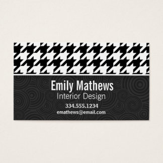 Black & White Houndstooth Business Card