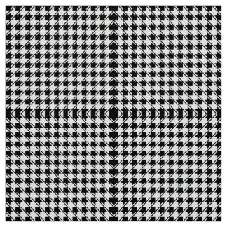 Black White Houndstooth Fabric