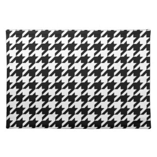 Black & White Houndstooth Pattern Placemat