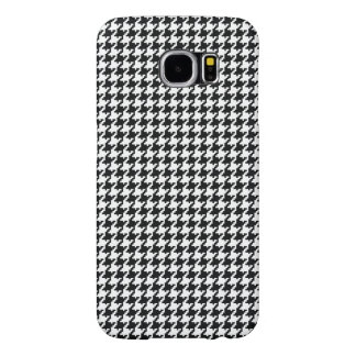 Black White Houndstooth Pattern Samsung Galaxy S6 Cases