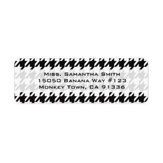 Black & White Houndstooth Return Address Return Address Label