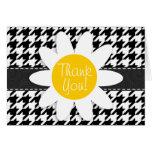 Black & White Houndstooth.; Spring Daisy Card