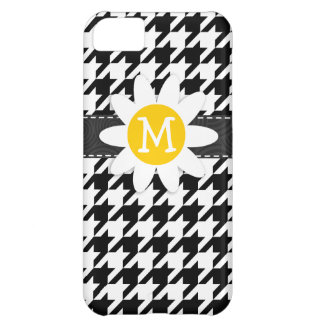 Black & White Houndstooth.; Spring Daisy iPhone 5C Cover