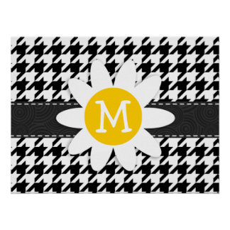 Black & White Houndstooth.; Spring Daisy Posters