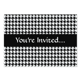 Black/White Houndstooth Stylish Fashion Designer Card