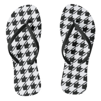 Black White Houndstooth Thongs