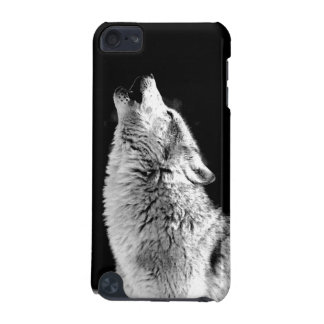 Black & White Howling Wolf iPod Touch (5th Generation) Covers