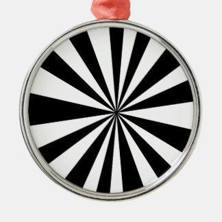 Black White hypnotic Silver-Colored Round Decoration
