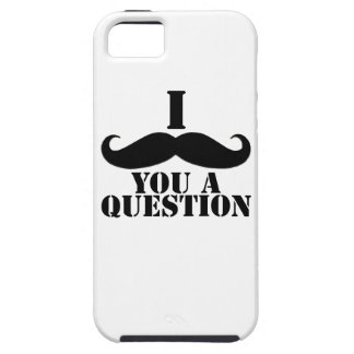 Black White I Moustache You A Question Fun iPhone 5 Cover