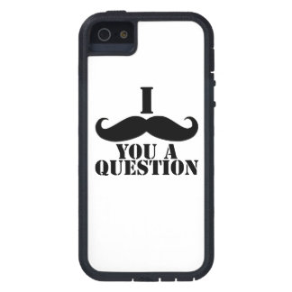 Black White I Moustache You A Question Fun iPhone 5 Covers