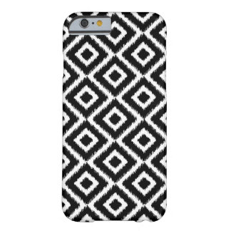 Black & White Ikat Diamonds Barely There iPhone 6 Case