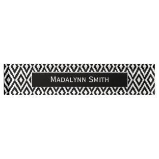 Black/White Ikat Pattern with Executive Name Nameplate