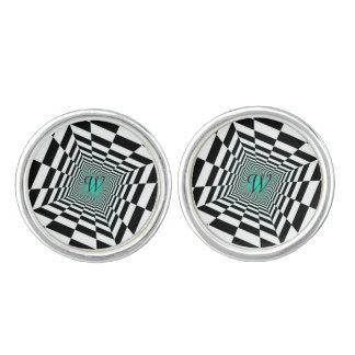 Black White Illusion Cufflinks