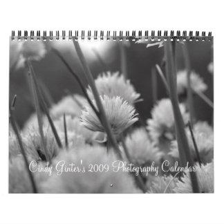 Black, White, Infrared Calendar