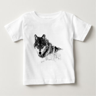 Black White Inspirational Wolf Eyes Baby T-Shirt