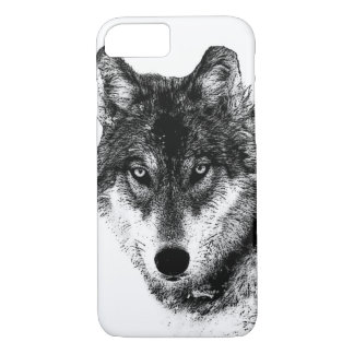 Black White Inspirational Wolf Eyes iPhone 8/7 Case