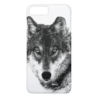 Black White Inspirational Wolf Eyes iPhone 8 Plus/7 Plus Case