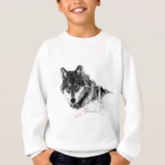 Black White Inspirational Wolf Eyes Sweatshirt