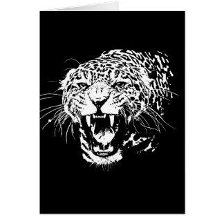 Black & White Jaguar Greeting Card