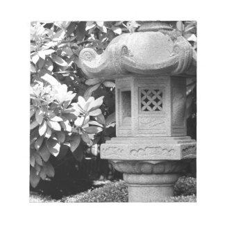 black white japanese garden notepad