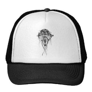 Black & White Jellyfish-Tattoo Style Cap