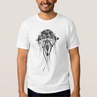 Black & White JellyFish-Tattoo Style Tshirts