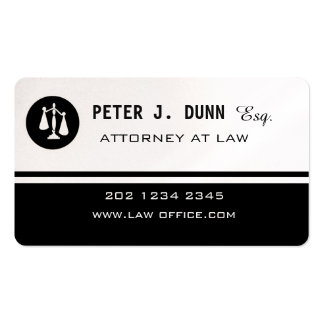 Black White Justice Scale Logo Law Attorney Magnet Pack Of Standard Business Cards