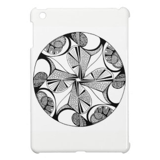 Black & White Kaleidoscope design, iPad Mini Case