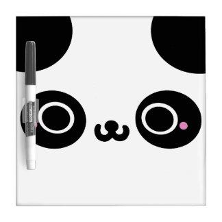 Black White Kawaii Panda Face Dry Erase Whiteboards