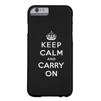 Black White Keep Calm and Carry On iPhone 6 case