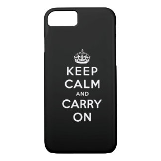 Black White Keep Calm and Carry On iPhone 7 case