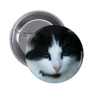 Black White Kitty Cat Buttons