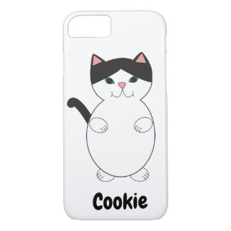 Black White Kitty Cat Personalize iPhone 8/7 Case