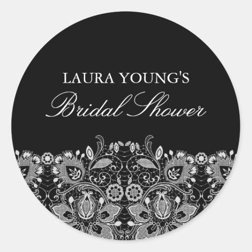 Black & White Lace | Bridal Shower Sticker