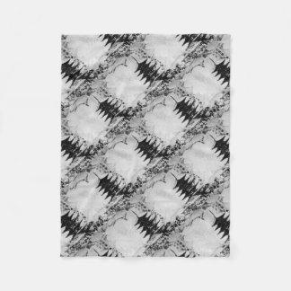 Black & White Lace Pagoda Home Decor Fleece Blanket